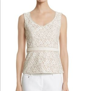 White House Black Market Sleeveless Lace Top